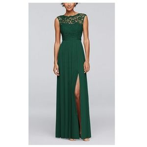 NWT Long Bridesmaid Dress with Lace Bodice